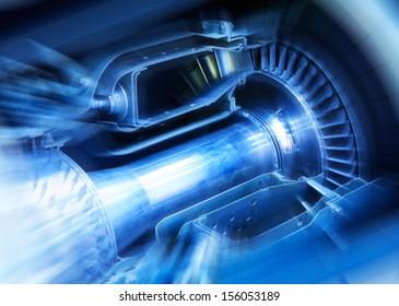 Aircraft engine cut-through