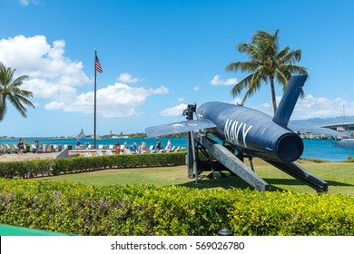Aircraft Fighter at The USS Arizona Memorial on April 14 2016 in Pearl Harbor Hawaii USA