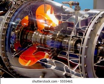 a aircraft jet engine detail
