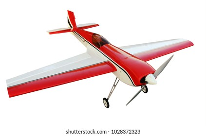 aircraft model to the motor on a white background