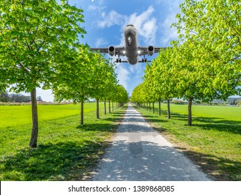 Aircraft noise over the park residential area