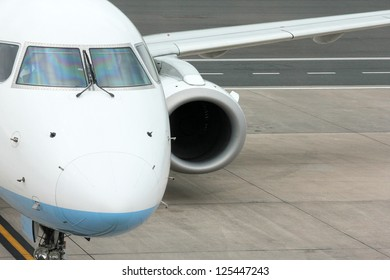 Aircraft on the tarmac at the Airport