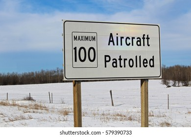Aircraft Patrolled Sign with Maximum Speed Limit