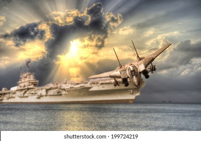 aircraft take off from carrier
