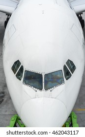 Aircraft with top view angle
