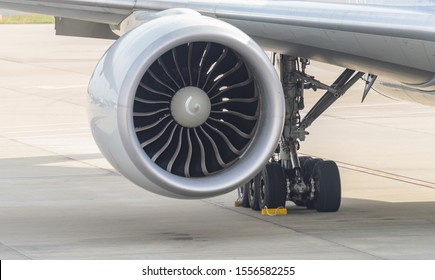 Aircraft  Turbine of airplane Wing and jet engine