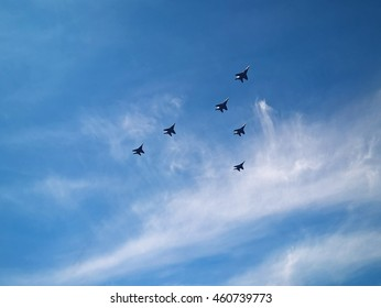 Aircrafts in the Minsk air
