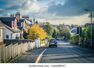 Airdrie in autumn, a small Scottish town in Scotland, UK
