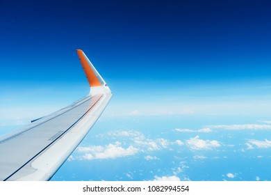 Airfoil and Cloudy Blue sky