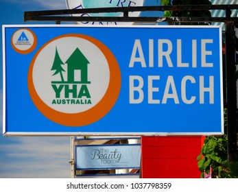 Airlie Beach, Queensland, Australia. July 2017. Youth Hostel accommodation in Airlie Beach, Queensland.