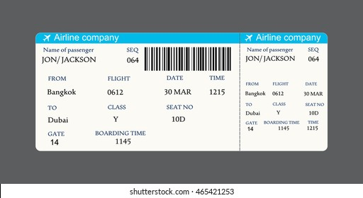 airline boarding pass ticket with QR2 code.