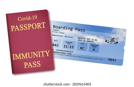Airline boarding pass tickets isolated on white with space for text insertion - The contents of the image are totally invented and does not contain under copyright parts