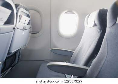 airline passenger seat and side window