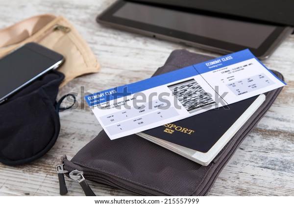 Авиабилет, паспорт и электроника, подготовка к путешествию