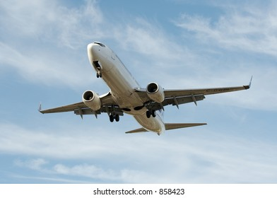 An airliner on approach.