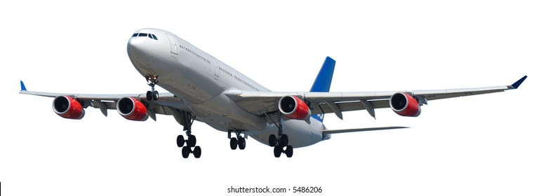 Airliner on a clean white background. 1:3