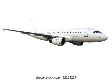airplan isolated on white background, clipping path