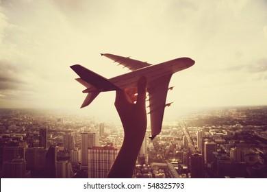 Airplane Aircraft Travel Trip