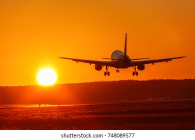 Airplane airport aviation sun sunset vacation holidays travel traveling plane aircraft travelling
