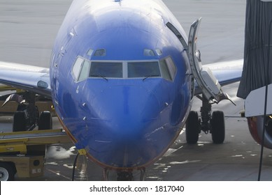 Airplane at airport on taxiway
