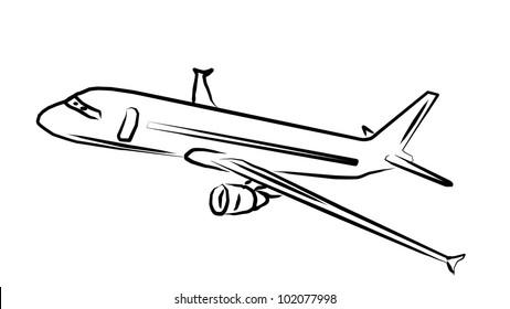 Airplane Art on white