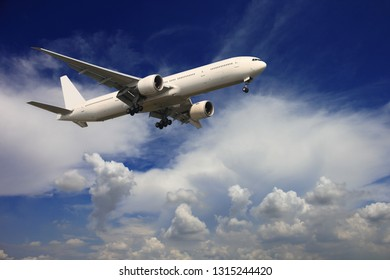 Airplane with beautiful sky on background