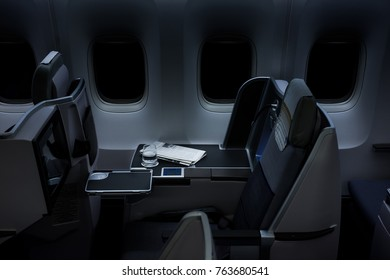 Airplane Business Class Interior