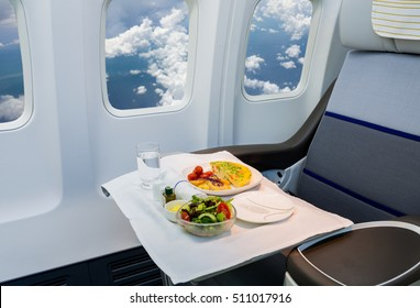 Airplane cabin business class