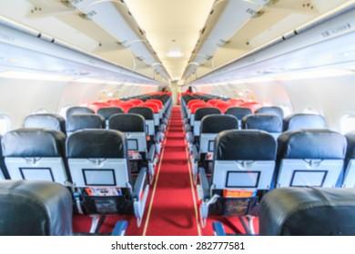 Airplane cabins image blur