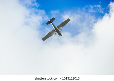 Airplane in the clear sky