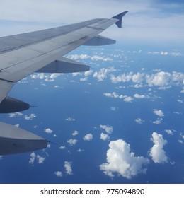 Airplane cloud views
