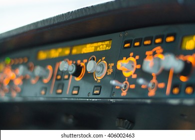 Airplane cockpit, settings for the autopilot