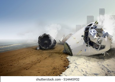 Airplane Crash at the Beach