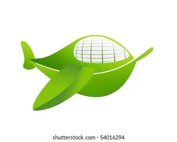 Airplane. eco transport concept