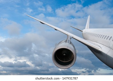 airplane flying down. against the sky.  landing or crash of airplane
