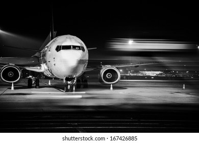 airplane front close-up