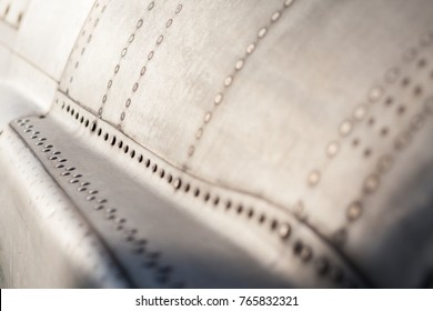airplane fuselage detail with rivets