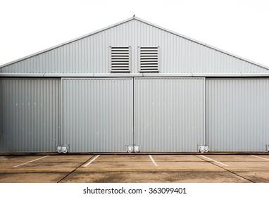 Airplane hangar.