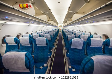 Airplane interior without passengers