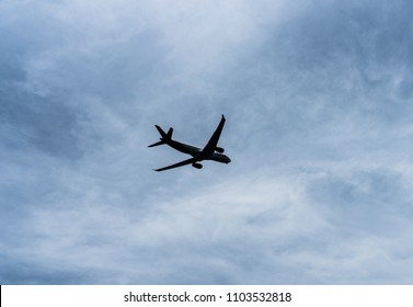 Airplane isolated ready for taking off and landing