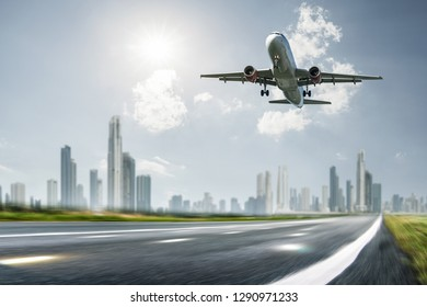 Airplane at the landing