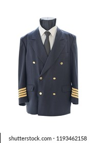 airplane pilot suit isolated on white background