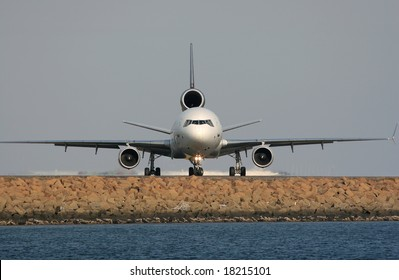 Airplane is preparing to take off