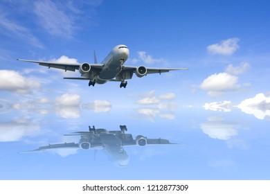 Airplane reflextion .