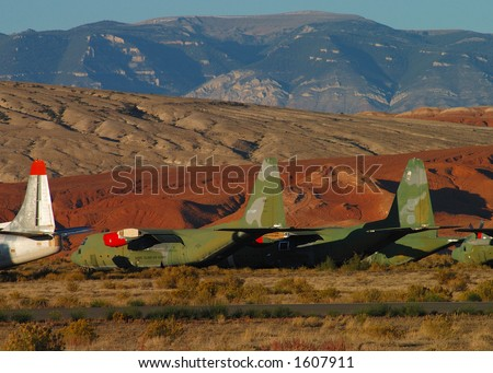 Airplane Salvage Yard Stock Photo (Edit Now) 1607911