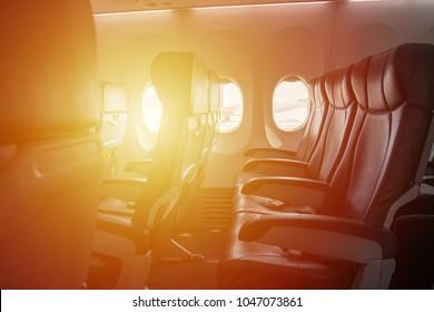 Airplane seat and light fair,Passenger plane