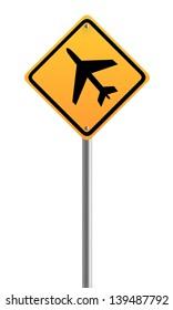 Airplane sign symbol