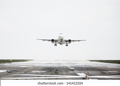 Airplane is taking off from the airport