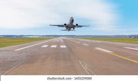 Airplane taking off from the airport