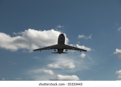 airplane taking off or landing on